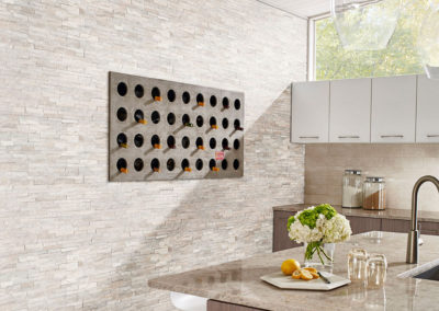 Arctic White Mini Stacked Stone Panels A