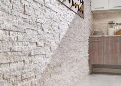 Bianco Aria Porcelain_Beige Crema Classique Ceramic_Arctic White Ledger Panels