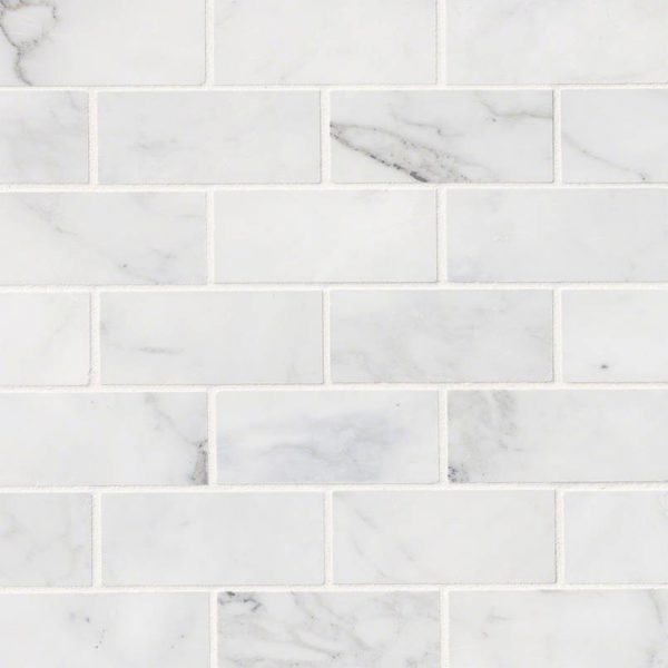 Calacatta Cressa White Subway Tile 2x4