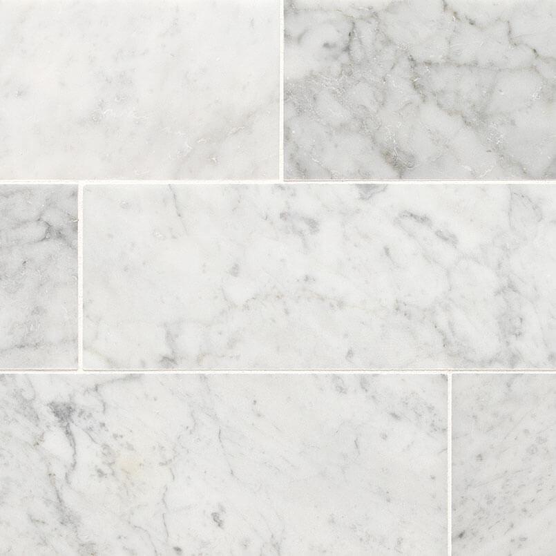 Carrara White 4x12 Honed
