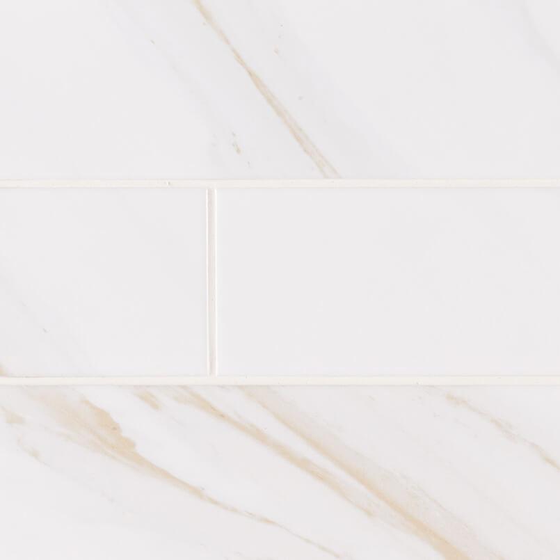 Classique White Calacatta Ceramic Tile