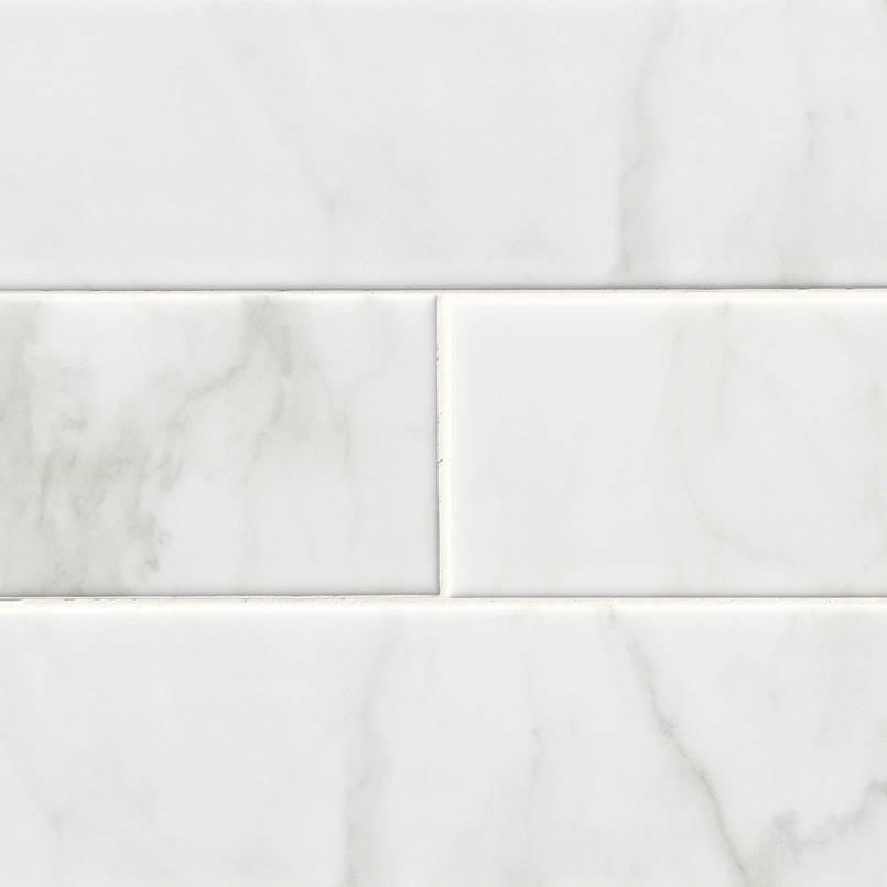 Classique White Carrara Glossy 4x16