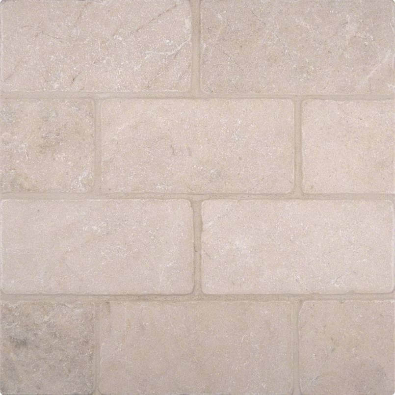 Crema Marfil Subway Tile Tumbled 3x6