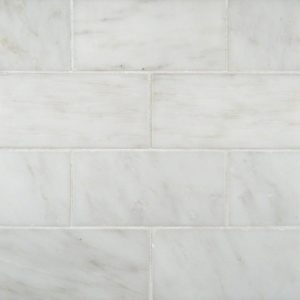 Greecian White Marble Subway Tile 3x6