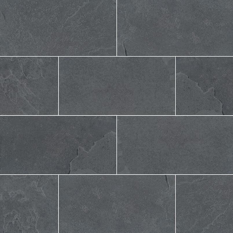 Montauk Black Subway Tile 3x6