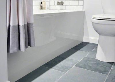 Montauk Blue Slate White Glossy 3X6 B - Slate Gray