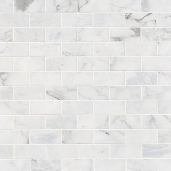 Calacatta Cressa White Subway Tile 2x4