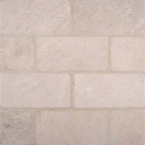 Crema Marfil Subway Tile Tumbled 3x6